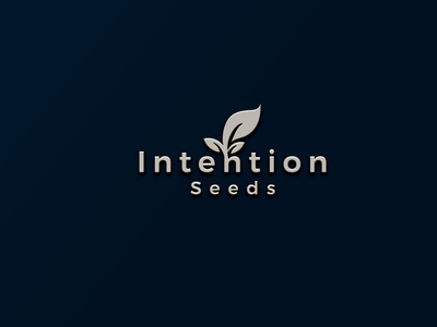 Intention Seeds creative logo modern logo corporate minimal logo typography custom logo business logo professional logo