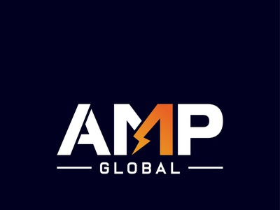 AMP global vector modern logo graphic design minimal creative logo corporate typography custom logo business logo professional logo