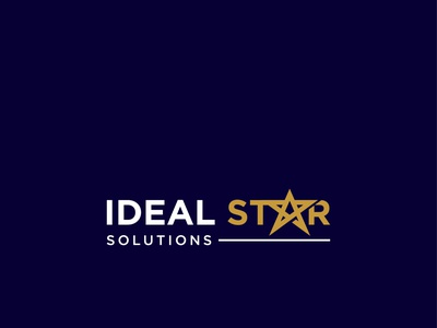 Ideal Start Solutions graphic design vector creative logo modern logo corporate minimal custom logo typography business logo professional logo