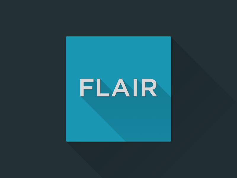Flair | long shadow
