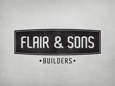 Flair & Sons | Logo logo builders construction flair  sons identity vintage retro
