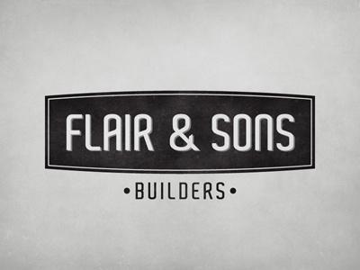 Flair & Sons | Logo logo builders construction flair  sons identity vintage retro