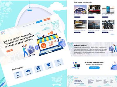 Advertisement website landing page. type typography web website ui ux design branding