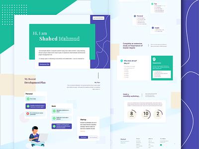 Landing Page for Self Introduction. landingpage web doctor branding landing page design illustration website ux ui design