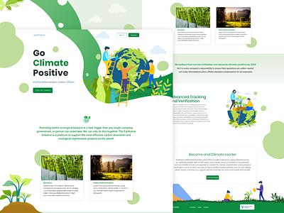Earth Shot Landing Page Design. vector landingpage landing page design branding illustration website web ux ui design