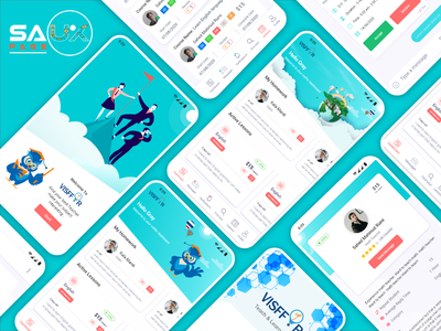 Online School App vector app landing page design illustration branding ux ui design