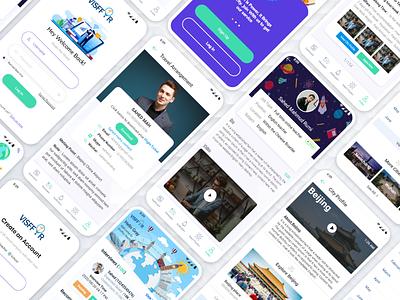 App Design For Foreigner Teacher online apply For Job. online student teacher icon app landingpage landing page design branding ui ux design