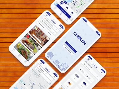 Ride sharing and food delivery app Cholen branding ux app ui design