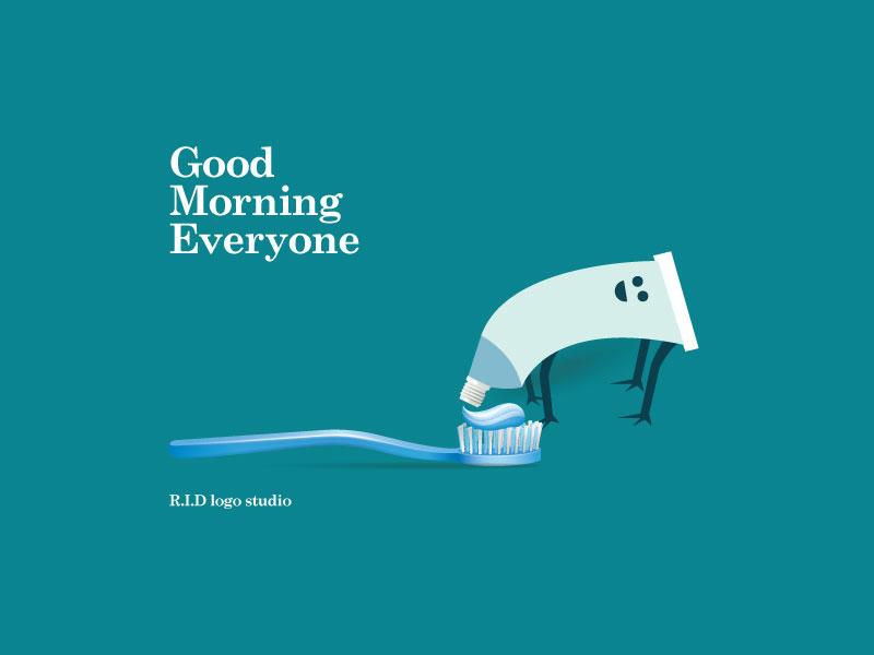Good Morning flat ridlogostudio vector branding icon graphicdesigner needlogodesigner logodesigner logo illustration design good morning