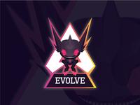 Evolve mascot logo for youtube channel