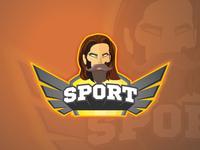 Sports mascot logo