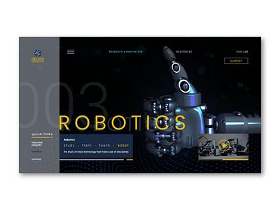Robotics 🤖 web ui ux ae