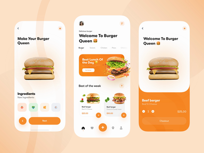 Burger Store - Motion 3D clean ui cleaning app after effects animation app interaction motion mobile design ui animation interaction design after effects uiux ui design ui
