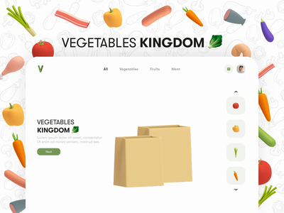 Vegetables kingdom animation ui graphic design motion graphics branding after effects interaction design design motion vegetables clean mobile store ui animation illustration motion design