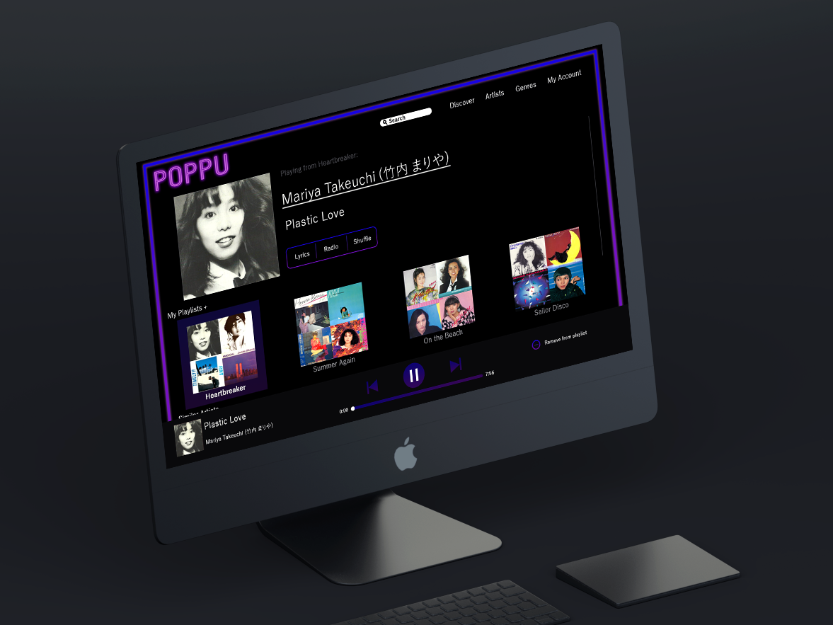 Poppu website flat design web ux ui