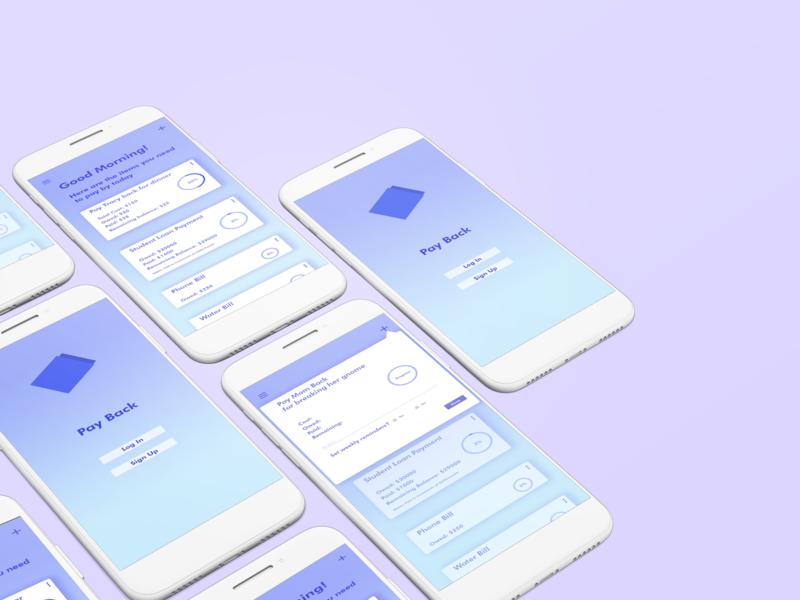 Payback phone ux ui design