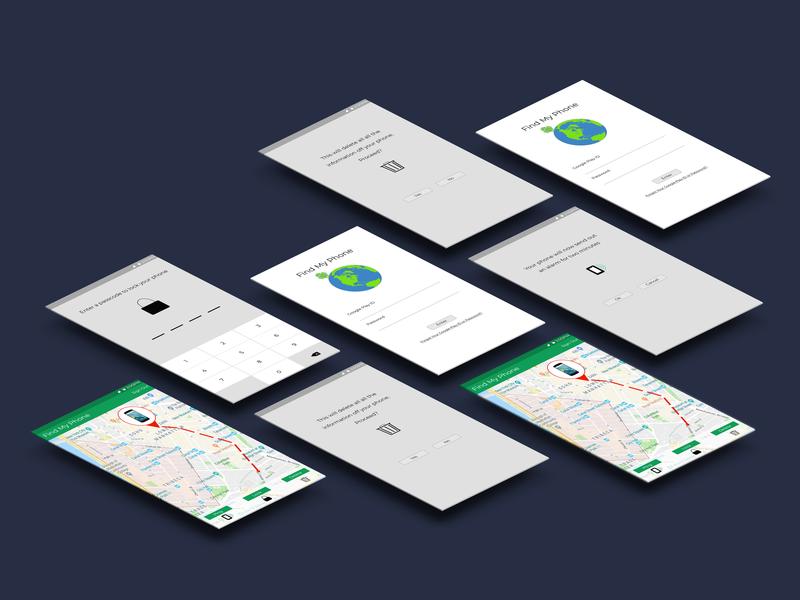 Find My Phone Perspective phone app design app web ux ui design
