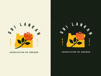 Sri Lankan Association of Oregon (2) pnw pdx digital art vector logo adobe illustrator illustration graphic design identity design branding heritage oregon sri lanka