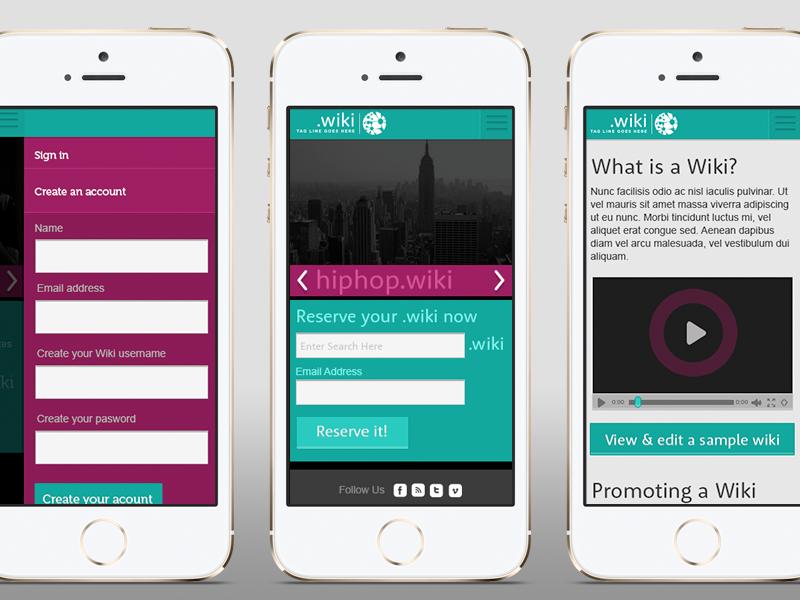 .wiki wiki branding web design responsive portland logo front-end design customer service