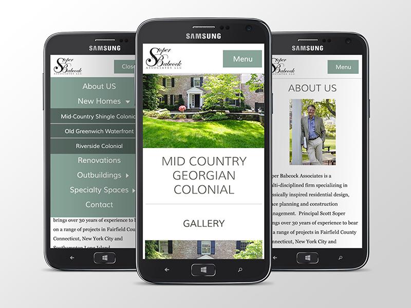 Soper Babcock Portfolio site responsive mobile portfolio roger that agency graphic design layout grid flat user interface ux ui website