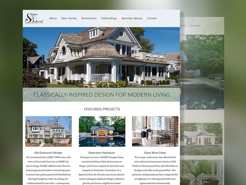 Soper Babcock Portfolio site - desktop roger that agency desktop graphic design east coast layout grid flat user interface ux ui website