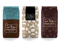 Stone House Coffee & Cannabis Packaging Concepts
