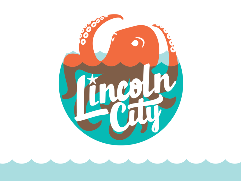 Lincoln City Logo branding unexpected agency design oregon lincoln city vector typography logo illustrator adobe drawing graphic design