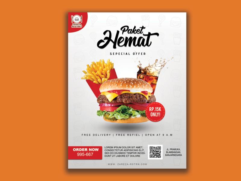 Burger Flyer Design photoshop typography flyer flyer design design advertise
