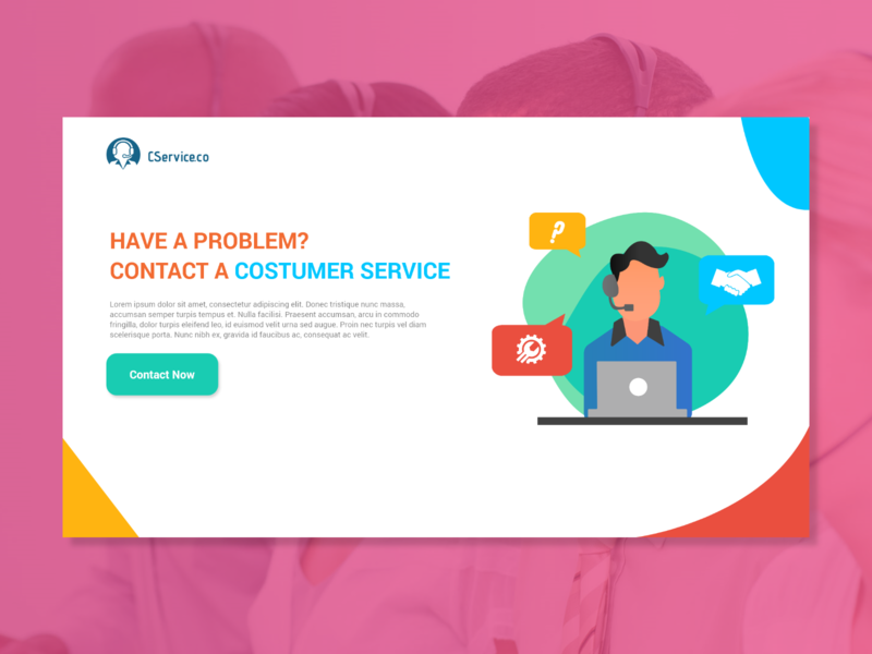 CService.co Landing Page advertise css costumerservice cs adobeillustration vector webdesign illustration web ui photoshop typography design