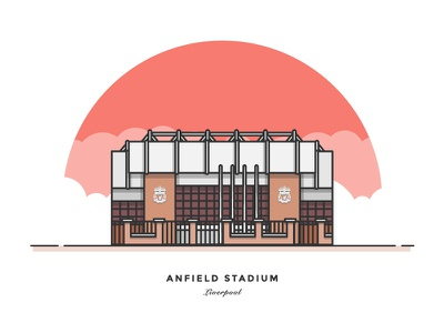 This Is Anfield... anfield vector flat building stadium sport leicester premiere league soccer football lfc liverpool