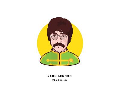 Sgt. Pepper at 50 - John Lennon john lennon the beatles music sgt peppers face character illustration man psychedelic cartoon portrait