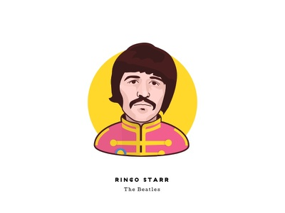 Sgt. Pepper at 50 - Ringo Starr portrait cartoon psychedelic man illustration character face sgt peppers music the beatles ringo starr