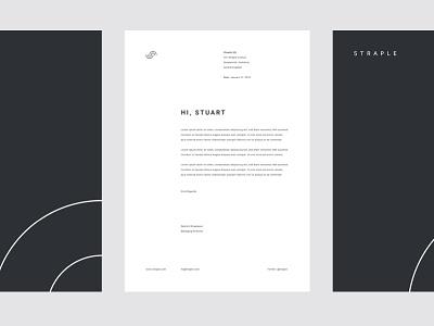 Straple Letterheads type layout framework print adobe illustrator template design system collateral stationary letterhead straple