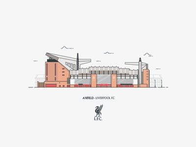 Anfield Stadium Illustration