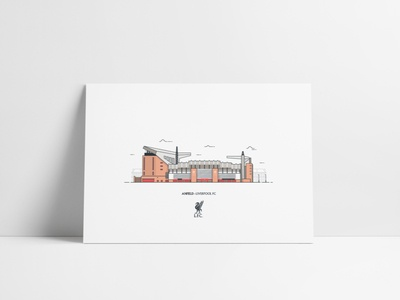 Anfield Illustration Poster