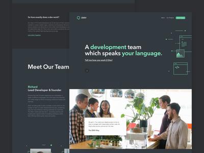 Z Dev Website Design inspiration code dev development photo team navy illustration landing page design website