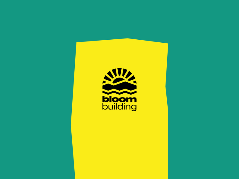 Bloom Brand yellow design shape brand identity symbol icon logomark logotype type typography branding art music culture abstract charity logo industry graphic