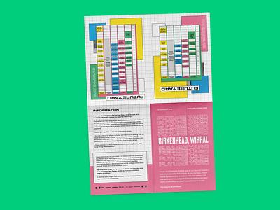 Future Yard Brochure branding vector design type poster liverpool music illustration print design a5 leaflet brochure print