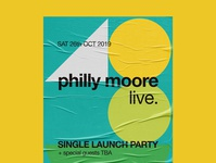 Philly Moore Gig Poster