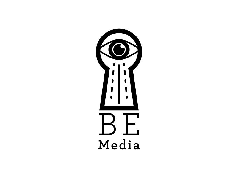 Beth Edwards Media Logo B logo identity eye keyhole rottencupcakes icon media vector illustration logomark