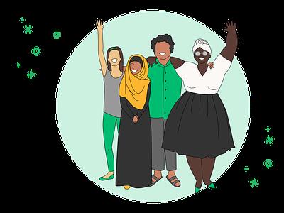 Welcome Committee Update branding identity vector illustration