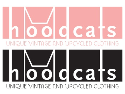 Hoodcats type meow girly cute identity logo cats