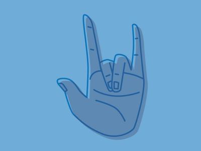 ILU ASL line vector i love you illustration hand asl