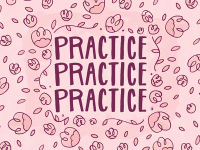Practice.Practice.Practice. vines leaves flowers flora floral handlettering lettering practice
