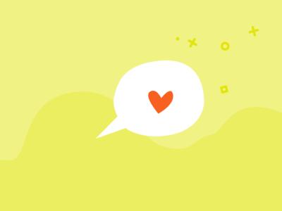 Squee sparkle bubble heart vector design identity icon illustration