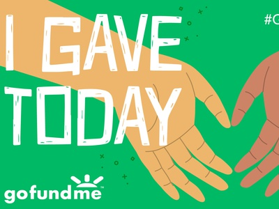 Giving Tuesday Post Donate Flow Share Image gofundme donate heart hands illustration giving tuesday