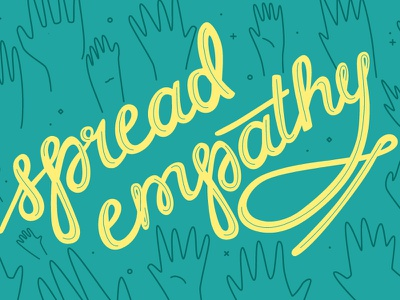 GoFundMe Giving Report: Spread Empathy sparkle script hands hand lettering typography vector branding illustration