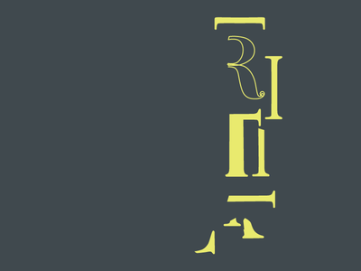 Handlettering Cannibal serif hand lettering typography illustration