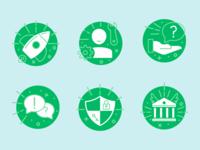 GoFundMe Help Center icons