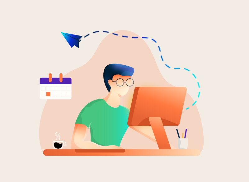 Office time characterdesign character adobe illustrator productivity composition artwork vectordesign vector illustrator design illustration office space office monday